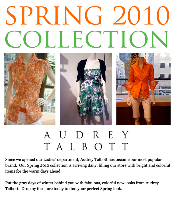 Audrey Talbott 2010 Spring Collection