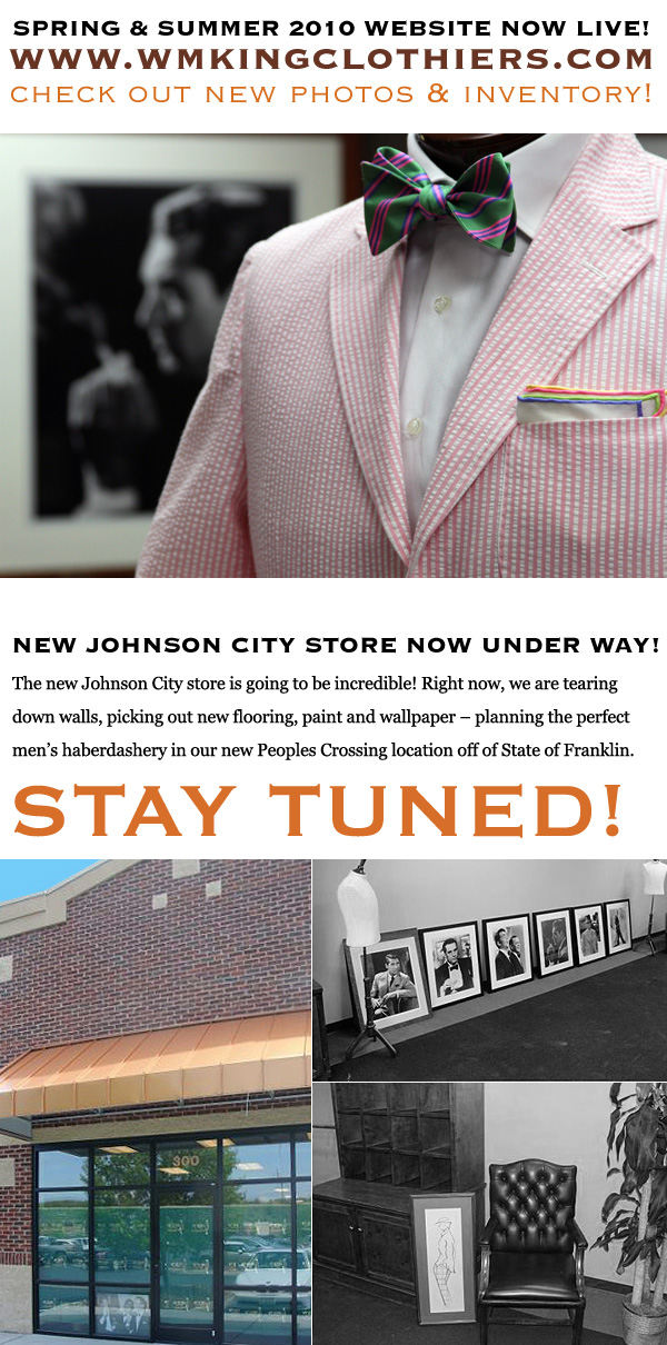 Spring & Summer Website Now Live! • New Johnson City Store Now Under Way!