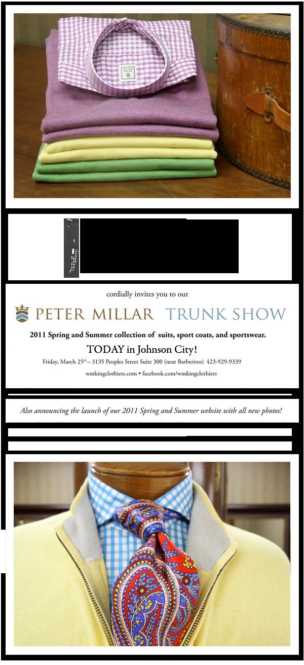 2011 Spring Peter Millar Trunk Show