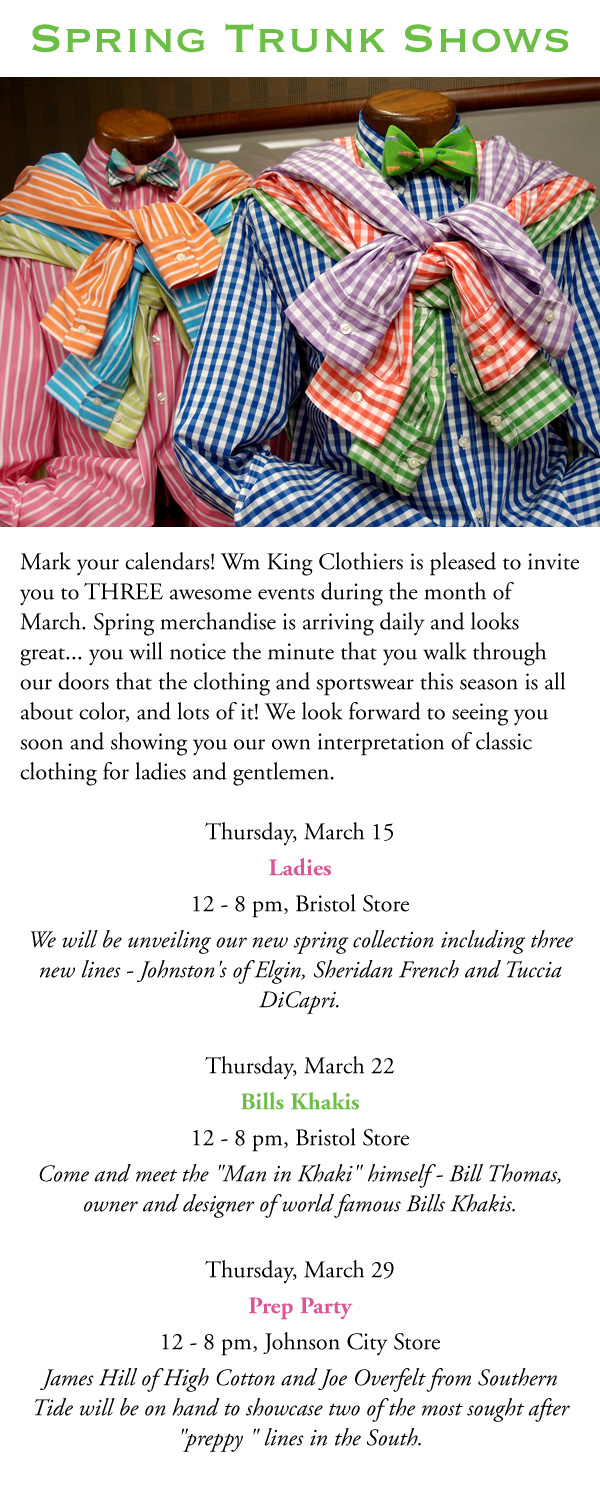 Spring Trunk Shows