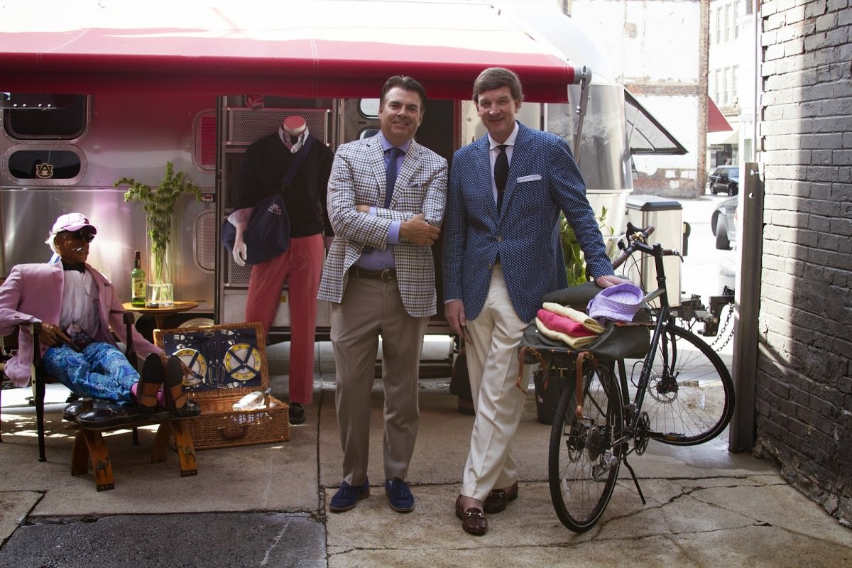 Chris Knott, founder of Peter Millar, and William King getting ready for the Peter Millar Party in Downtown Bristol!